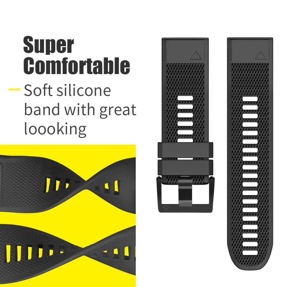 ANCOOL Compatible with Forerunner 935 Bands Easy Fit Mechanism Silicone Watch Bands Replacement for Forerunner 935/Fenix 5/Fenix 5plus/Approach S60 Smartwatches, 7-Pack by ANCOOL (Image #6)