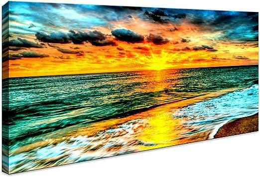 Sunflowers photo sur l/'eau Photo Imprimé sur encadrée Toile Décoration Murale