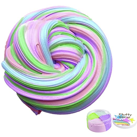 Fluffy Slime Smartip Fluffy Floam Slime Supplies Jumbo Floam Slime Containers Stress Relief Toy Scented Sludge Toy For Kids and Adults 6 OZ(4 Colors)