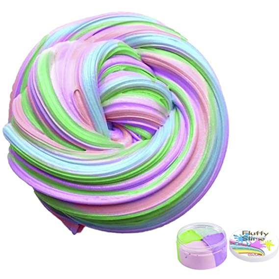 Smartip Fluffy Slime Fluffy Floam Slime Supplies Jumbo Floam Slime Containers Stress Relief Toy Scented Sludge Toy for Kids and Adults 6 OZ(4 Colors)