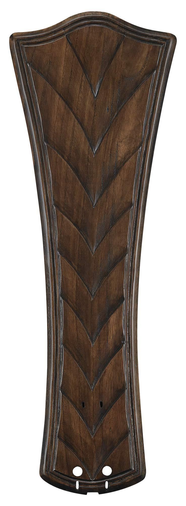 Fanimation B6060WA Concave Ribbed Carved Blade, 26-Inch, Walnut