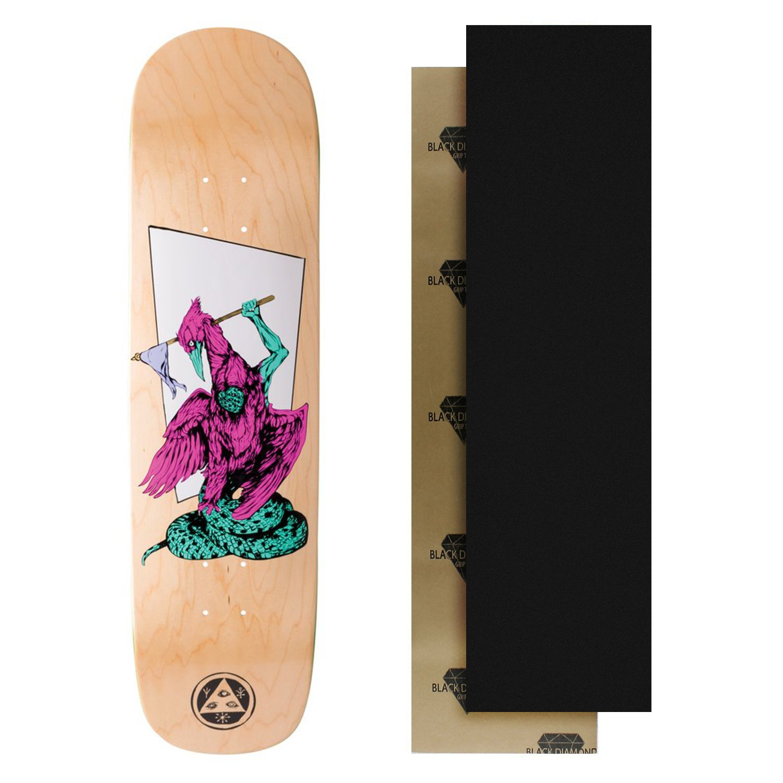 WELCOME Skateboard Deck - Twenty Eyes on Yung Nibiru - Natural with Grip