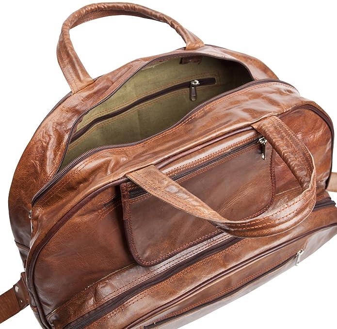 81stgeneration Sac Vintage main et sac main sac à bandoulière en cuir véritable de Week-end Voyage Sport Gym YGuTxX