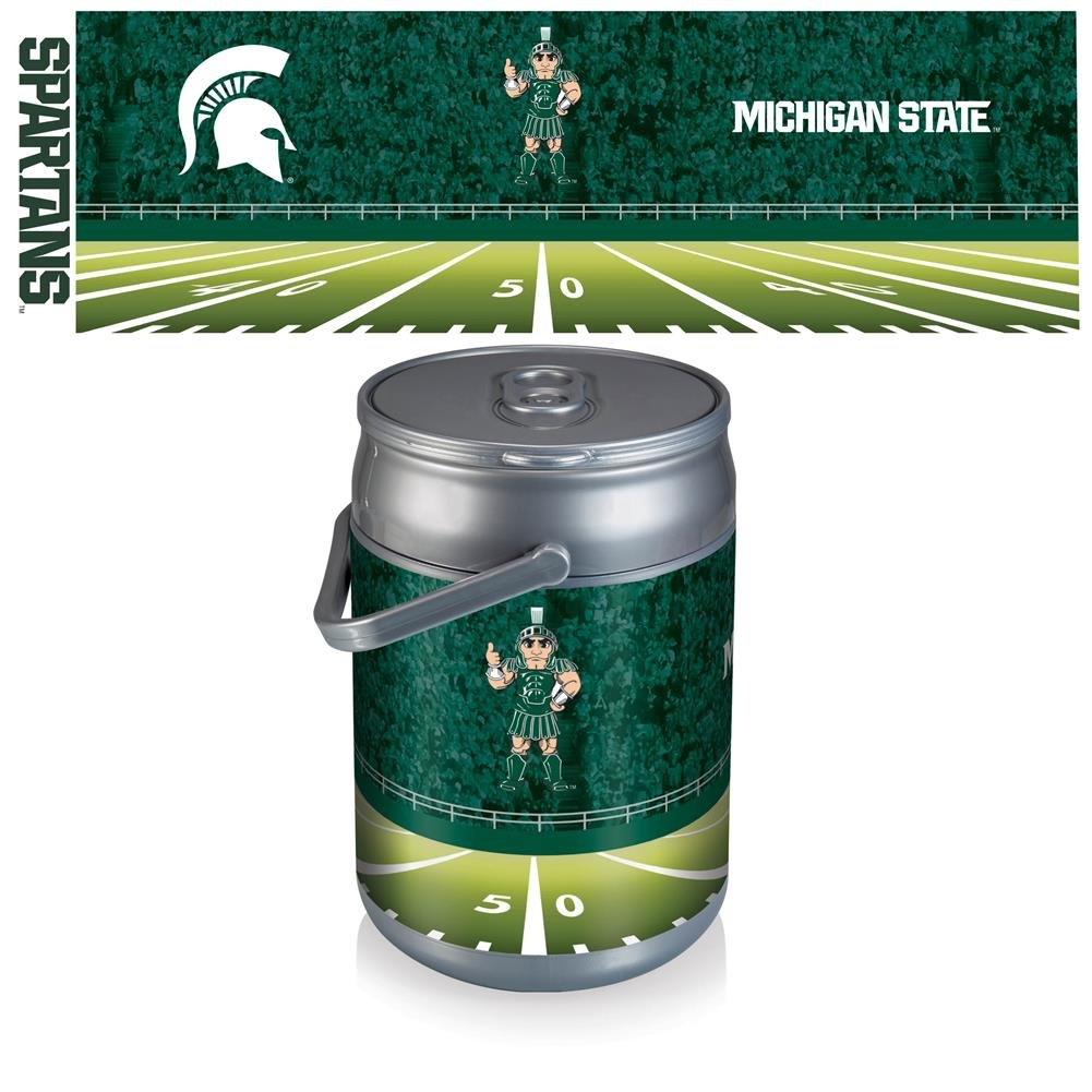 【海外限定】 NCAA State Michigan State Spartans Footballデジタル印刷Can Cooler、1サイズ、シルバー B0082PK5WI/グレー NCAA B0082PK5WI, さど ふく あいらんど:4c5dee37 --- arianechie.dominiotemporario.com