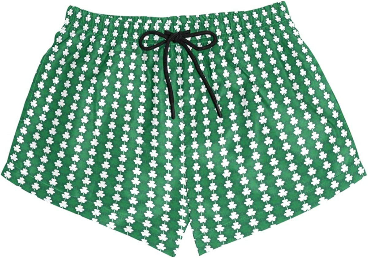 ARIELLA Women St.Patricks Day Summer Fashion Beach Board Shorts Ultra Quick Dry 4-Way Stretch Green Slim Fit