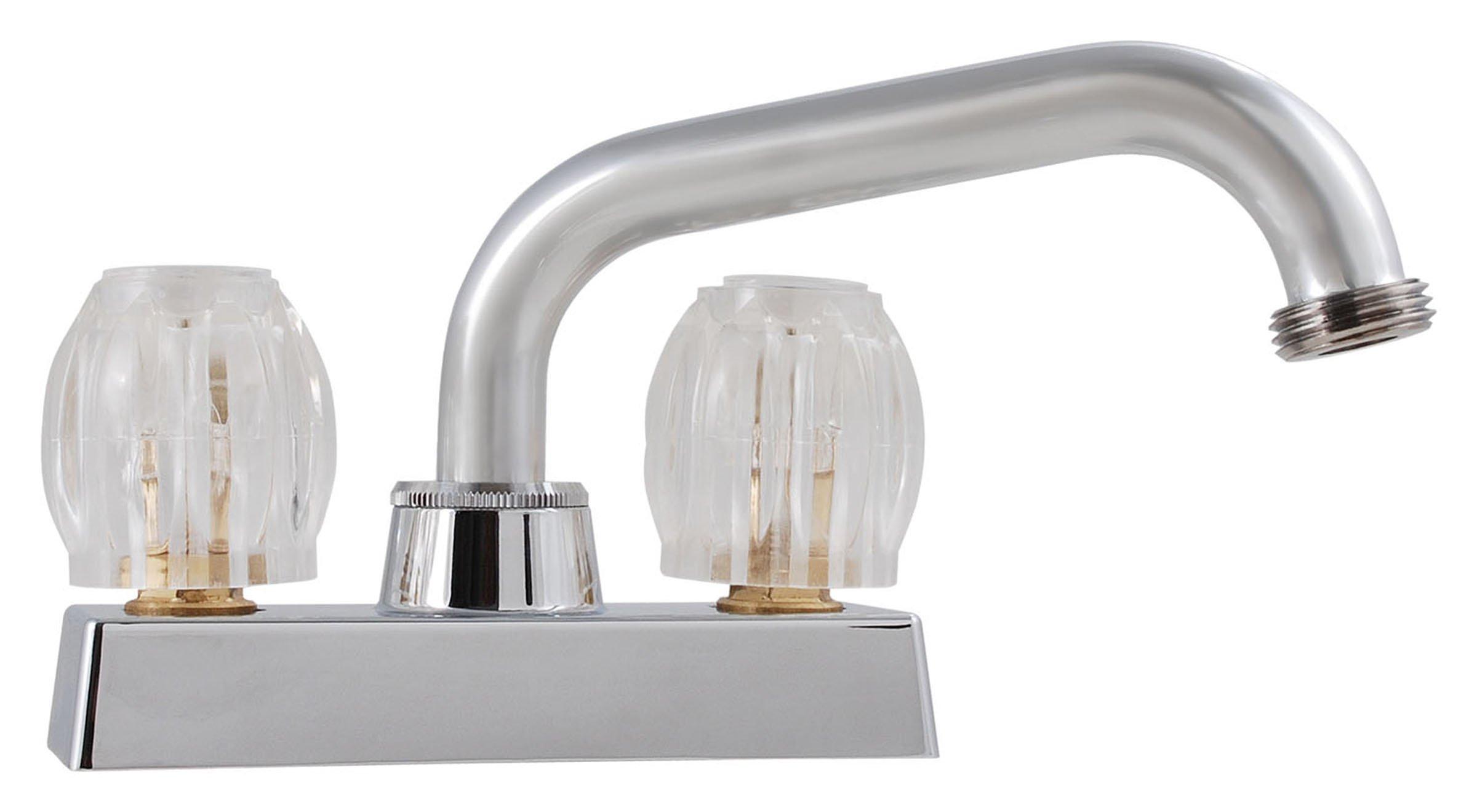 LDR 013 5200CP Laundry Faucet, Double Handle, Chrome