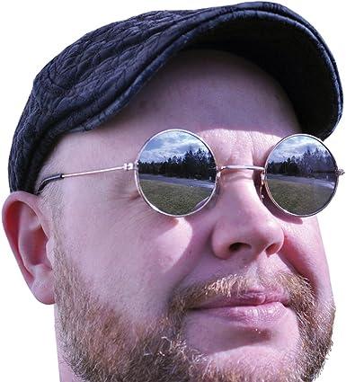 Round Mirrored Hippie Sunglasses John Lennon Beatles Retro Elton John Ozzy