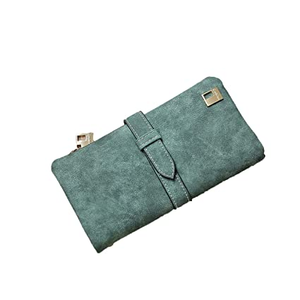 d73e31ccf69 Image Unavailable. Image not available for. Color: 2019 Solid Leather  Zipper Long Women Wallet Phone Bag Luxury Brand Wallets Designer Purse Card  Holder