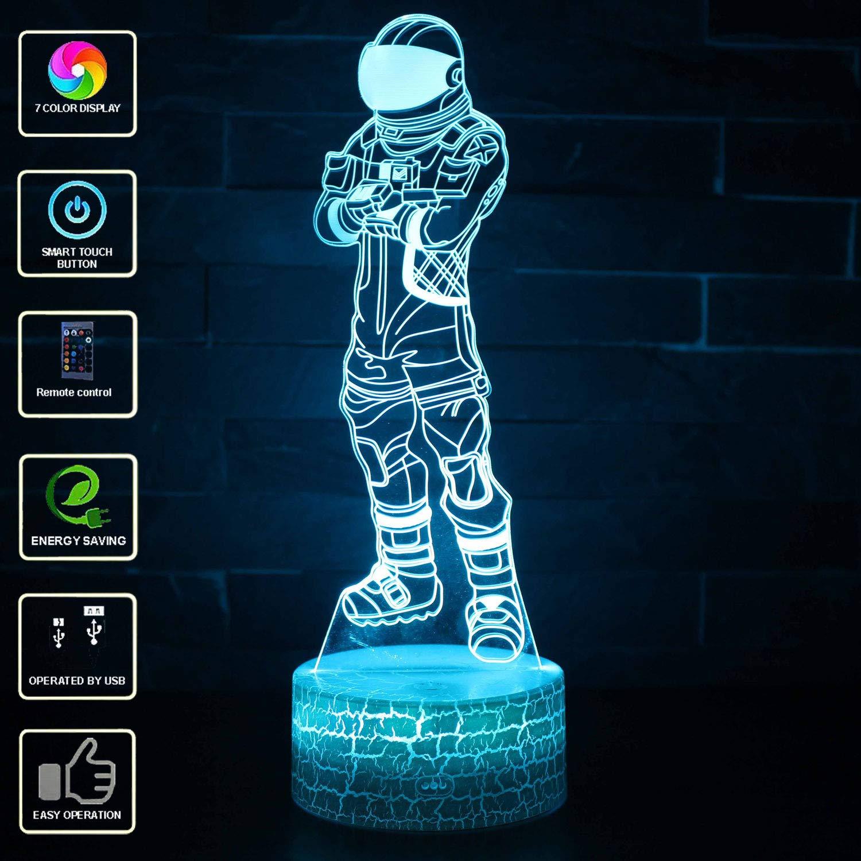 Lampada visiva 3D, lampada LED per camera da letto, luce notturna, scultura, luci da scrivania, luci per bambini, regalo con telecomando. Mod22 UGUI