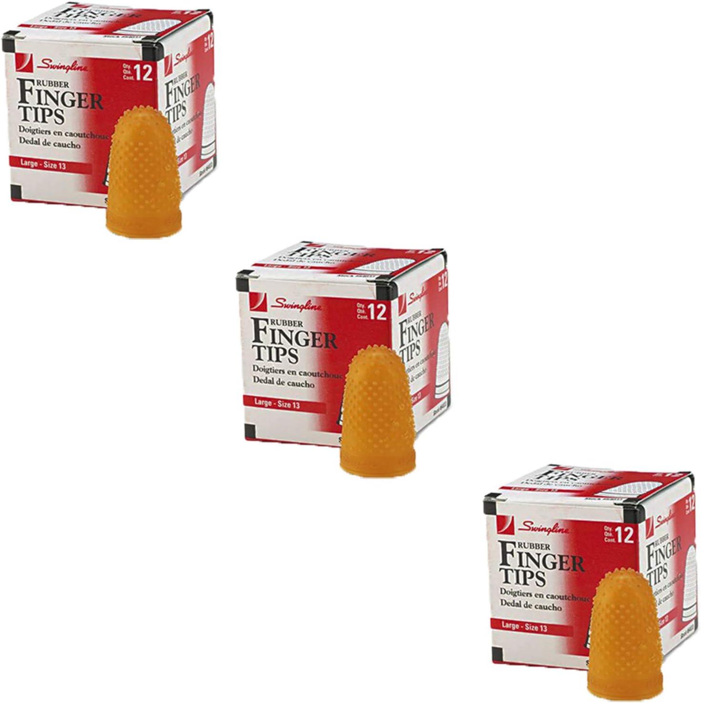 Large Amber Sold as 2 Dozen Size 13 1//Dozen Rubber Finger Tips