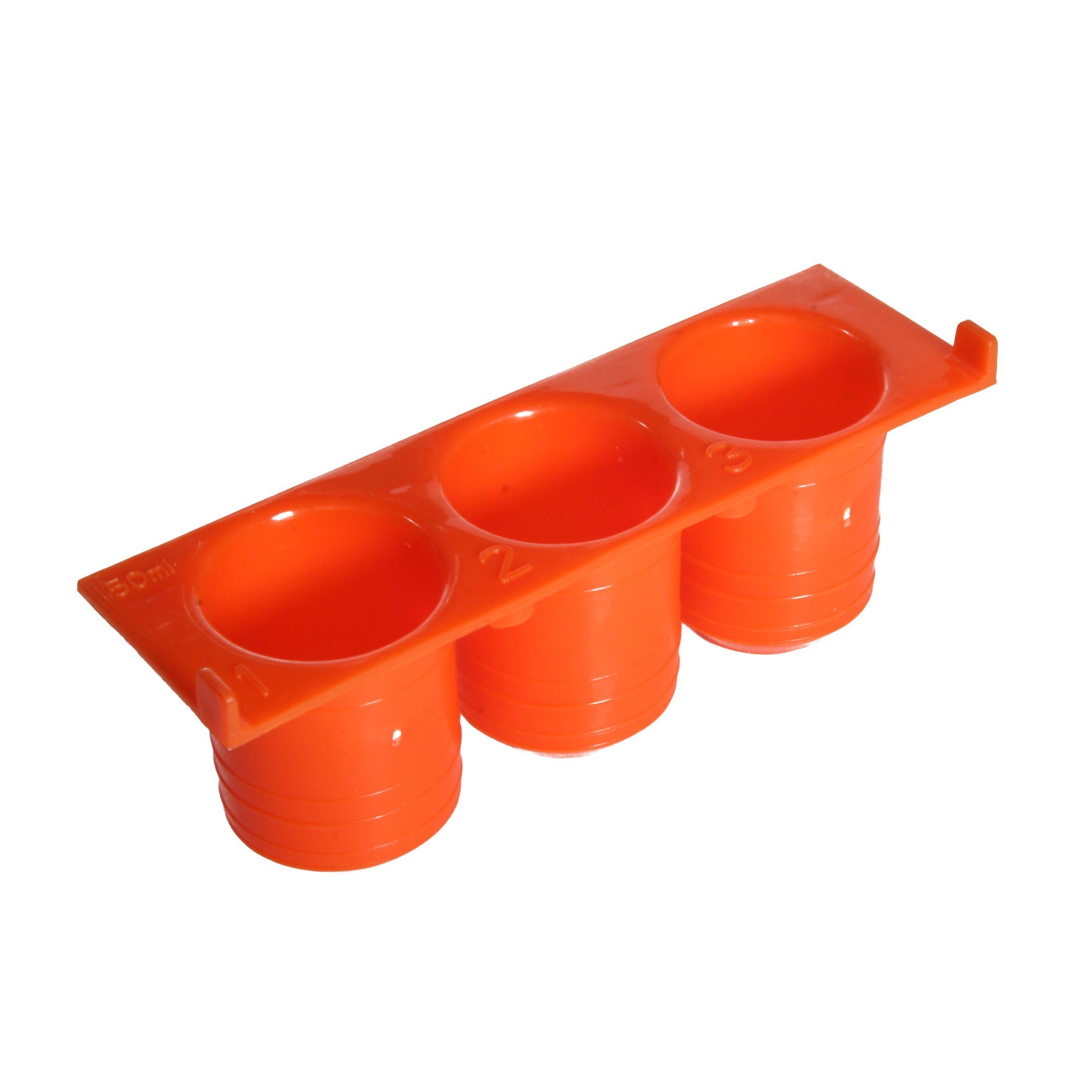 Argos R6007 Orange Polypropylene FlexiRack Pipetting Workstation Centrifuge Tubes Insert For 50mL 3 Centrifuge Tubes (Pack of 5)