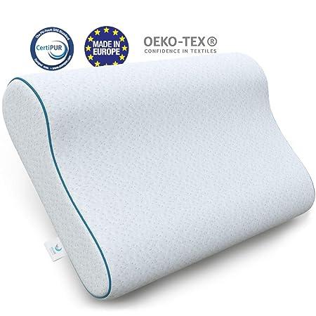Cuscino In Memory Foam Certificato Oeko Tex.Dreamzie Cuscino Ortopedico Cervicale 60 X 40 X 9 11 Cm