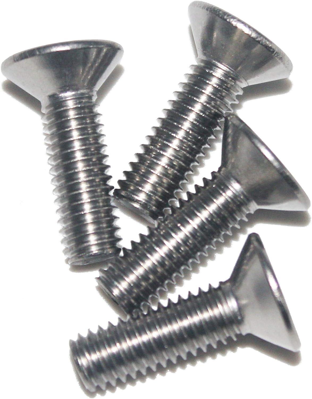 Edelstahl A2 Senkkopfschrauben M8 X 40 DIN 7991 mit Innensechskant 10 St/ück - V2A Senkschrauben mit Vollgewinde ISK