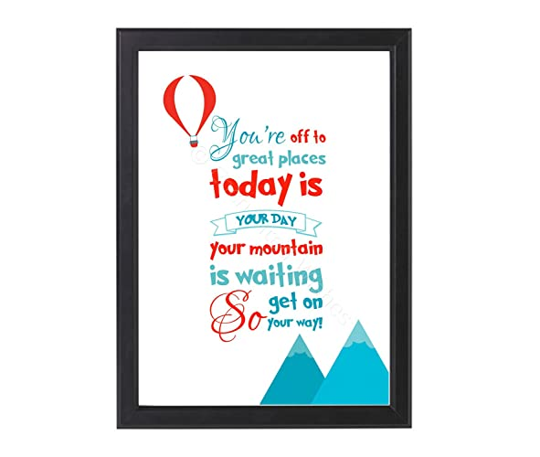 Youre Off To Great Places Dr Seuss Quote Print Unframed A4 Or