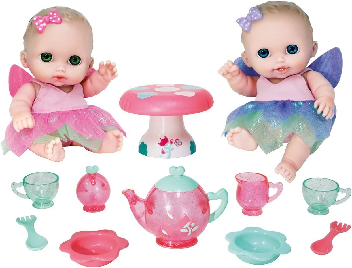 JC TOYS- Muñecos bebé, Color Pink, Purple, Green (16957)