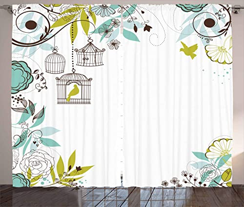 Lunarable Birds Curtain