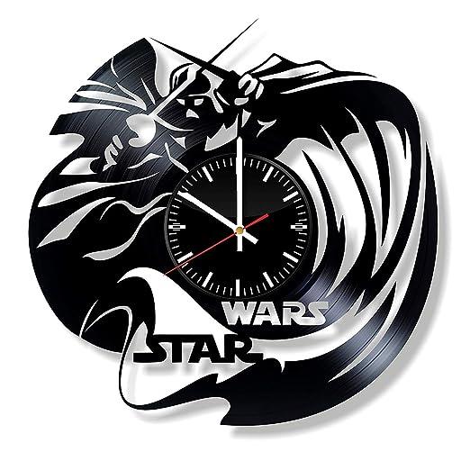 LKCAK Reloj de Pared de Vinilo de Star Wars - Darth Vader ...