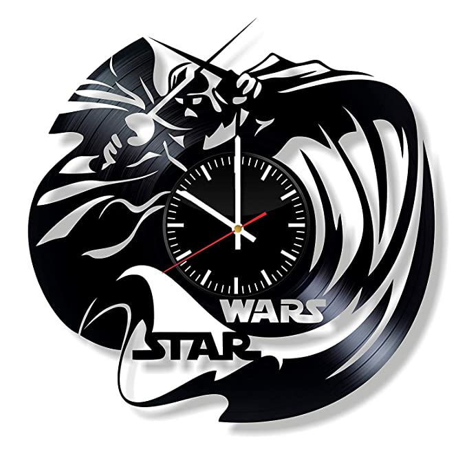 LKCAK Reloj de Pared de Vinilo de Star Wars - Darth Vader ...