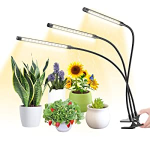 HitLights Full Spectrum LED Grow Lights for Indoor Gardening, 45 LEDs, 9W LED Growing