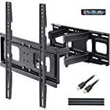BLUE STONE Full Motion TV Wall Mounts TV Bracket for Most 32-65 Inch Flat Screen TVs, TV Mount with Articulating Dual Arms Ti