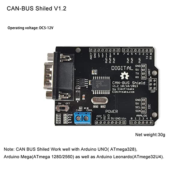 Makerfocus CAN-BUS Shield V1 2