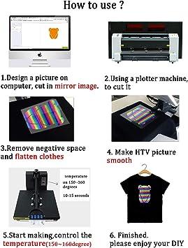Paquete de vinilo holográfico de transferencia de calor con purpurina arcoíris HTV para planchar camisetas, ropa y bolsas, 10 x 12 pulgadas, 5 colores surtidos: Amazon.es: Juguetes y juegos