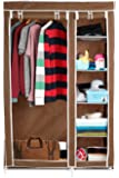 Harisons Homes Foldable Wardrobe with 5 Shelves (Brown)