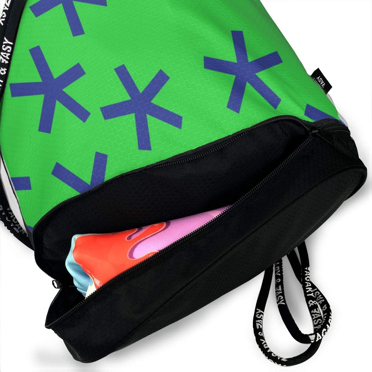 Jumbo Stars 42 Drawstring Backpack Sports Athletic Gym Cinch Sack String Storage Bags for Hiking Travel Beach