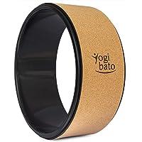 Yogibato Yogarad Kurk - Dharmawiel met ABS Ring - Jogarad voor Pilates Yoga Stretching Fitness - Yoga Wheel Cork