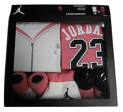 855156e823b Nike Air Jordan 5 Piece Infant Baby Girl Set White