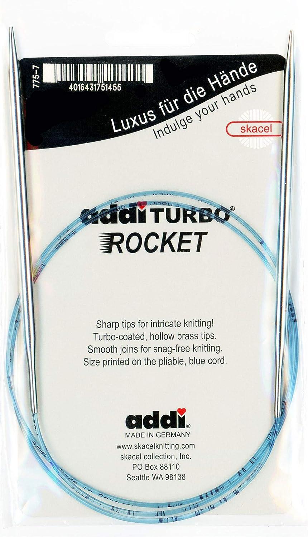 Size US 2 addi Knitting Needle Circular Turbo Rocket Lace Skacel Exclusive Blue Cord 40 inch 3.0mm 100cm