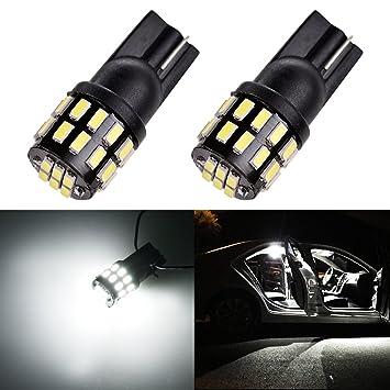 LTPAG 2pcs T10 W5W LED, 168 194 30SMD 3014 Bombillas de Coche como Luces de