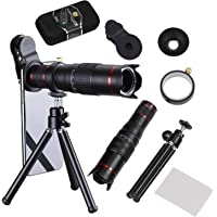 Camera Lens,BECEMURU 22X Phone Zoom Camera Lens Kit Double Regulation HD Scale Distance FOV Phone Lens Attachment Tripod (DN0099)