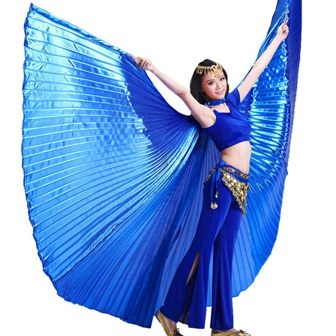 Calcifer® Marke neue Ägyptische Ägypten Belly Dance Flügel Isis Flügel Kostüm Geschenk für Big Party Weihnachten blau