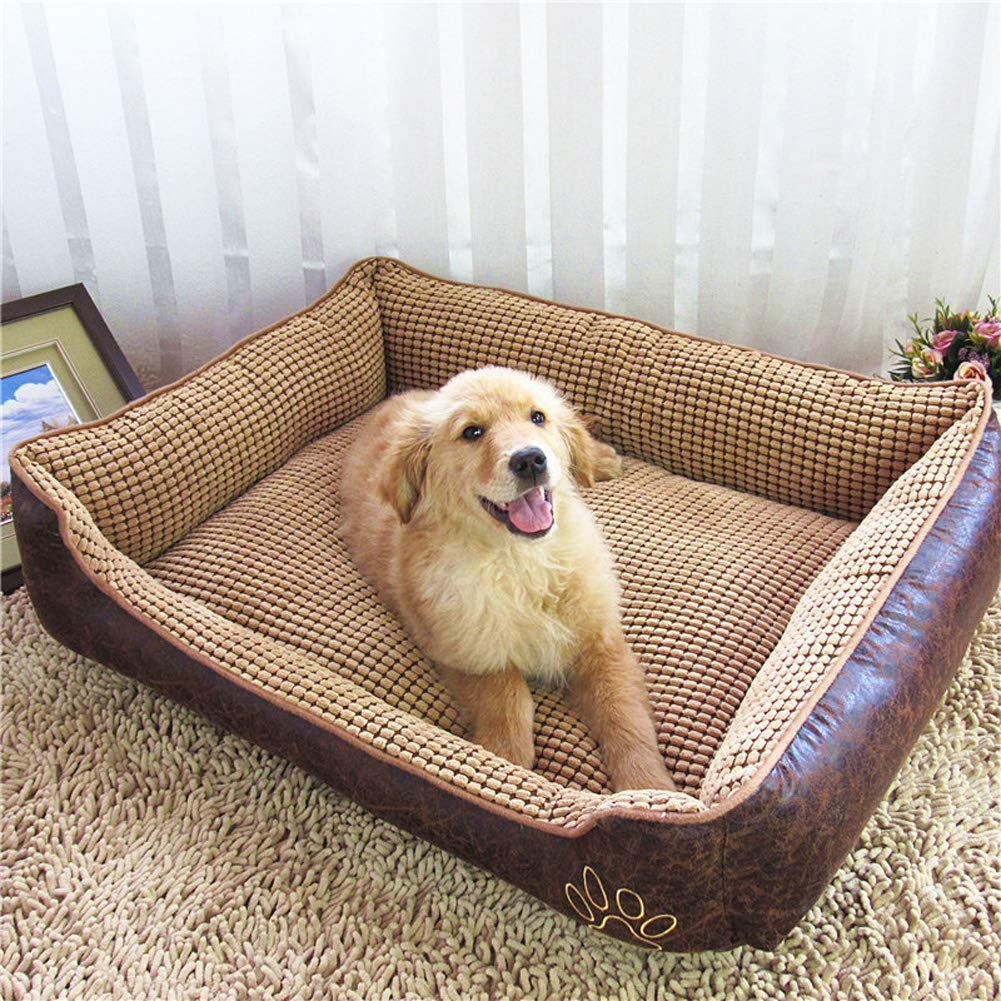 Brown 907025cm Brown 907025cm JINGC Pet Bed, Dog Mat Cat Litter Pet Supplies, Comfortable And Easy To Clean,Brown,90  70  25Cm