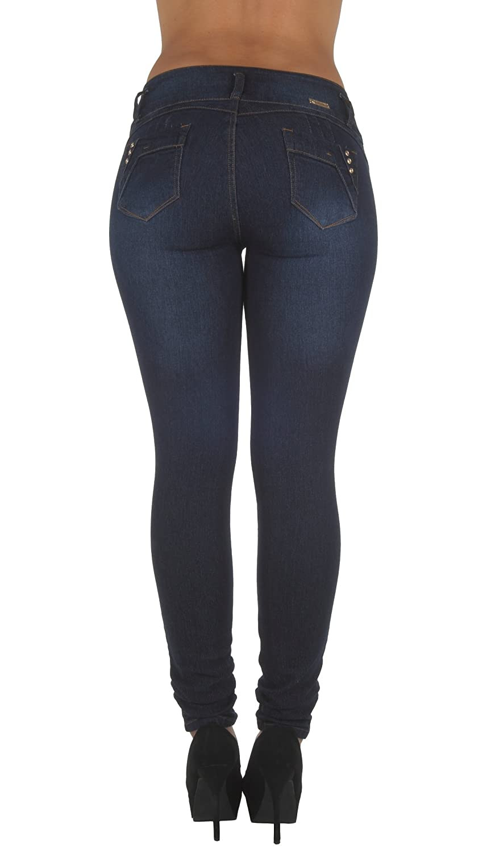 Plus//Junior Size Colombian Design Butt Lift Levanta Cola Stretch Skinny Jeans