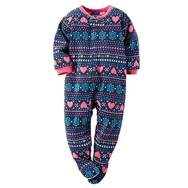 9efe98a3b Amazon.com  Carters Baby Girl Fleece Footed Pajamas (5T