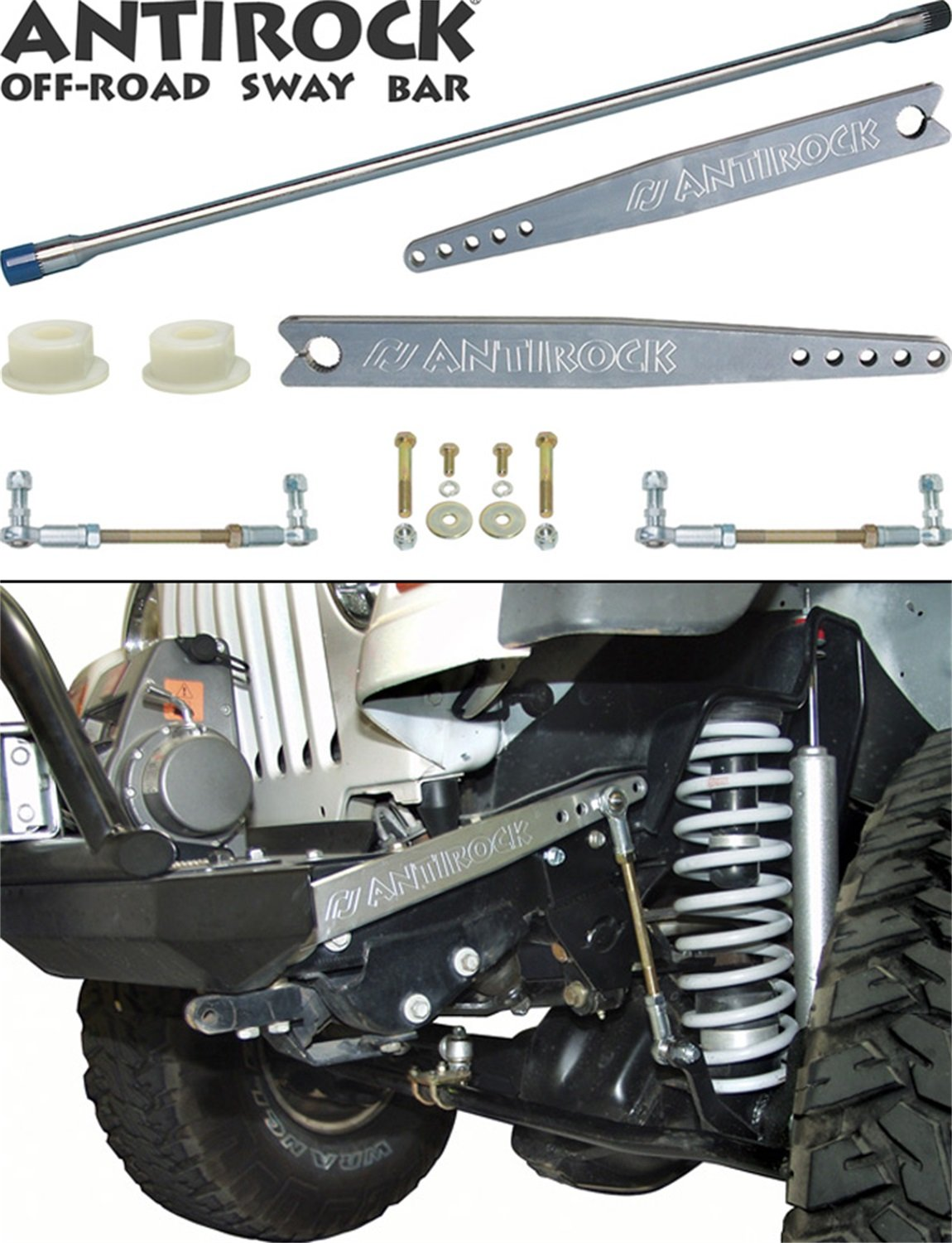 Currie Enterprises CE-9900A ANTIROCK Front Sway Bar Kit with Aluminum Arm (Option For '97-'06 TJ And Unlimited) by Currie (Image #1)