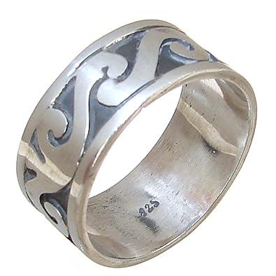 f9db2c06b Modern Plain Sterling Silver Ring size T 1/2: Amazon.co.uk: Jewellery