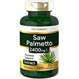 Saw Palmetto Extract | 2400mg | 120 Capsules | Prostate Supplement for Men | Gluten Free | from Saw Palmetto Berries | by Hor