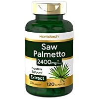 Saw Palmetto Extract | 2400mg | 120 Capsules | Prostate Supplement for Men | Gluten Free | from Saw Palmetto Berries | by Horbaach