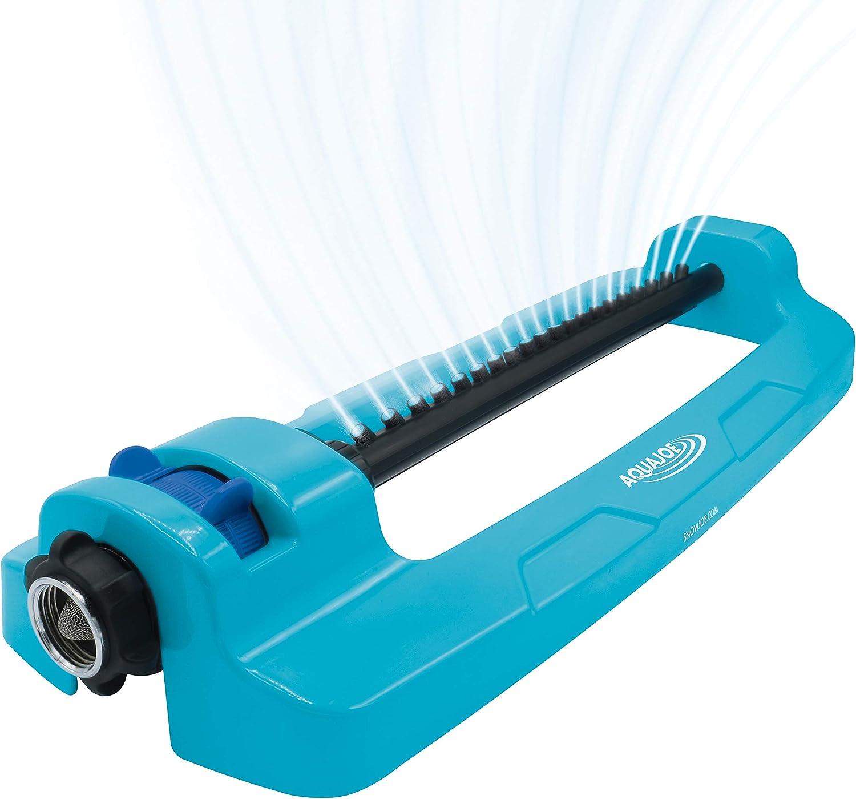 Blue Aqua Joe SJI-OMS20 Aqua Joe 4,400 Sq Ft Coverage Indestructible Oscillating Sprinkler