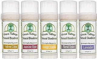 product image for Natural Deodorant 2.7 Ounce Sampler 5 Pack (SAVE 15%), All Natural Organic Deodorant for Women & Men Aluminum Free Antiperspirant Deodorant (Vetiver Citrus, Orange Vanilla, Jasmine Rose, Floral Spice, Lavender), Large 2.7oz Each - 5 Pack