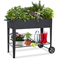 Foryee Raised Planter Box with Legs Outdoor Elevated Garden Bed