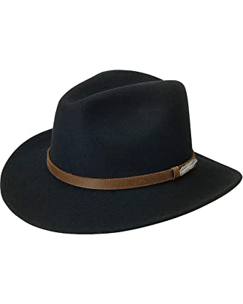 Image Unavailable. Image not available for. Color  Black Creek Men s Small  Brim Crushable Wool Felt Hat ... 94a536cfc91e