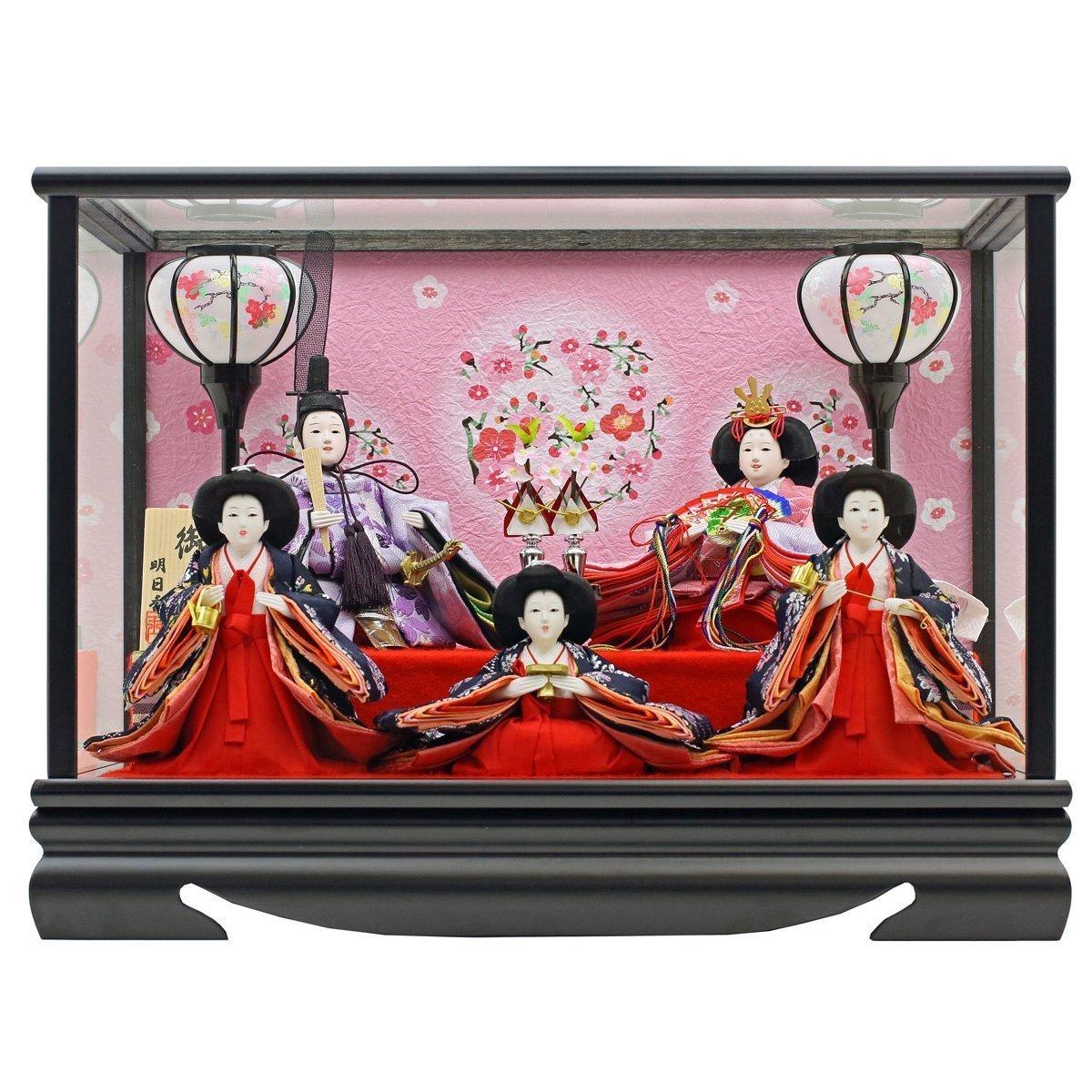 人形工房天祥 雛人形 ケース飾り 親王飾り 衣装着「親王飾り 春菜雛」 横幅43×奥行30×高さ30(cm) 15ao-haru-a   B00SCSMKBY