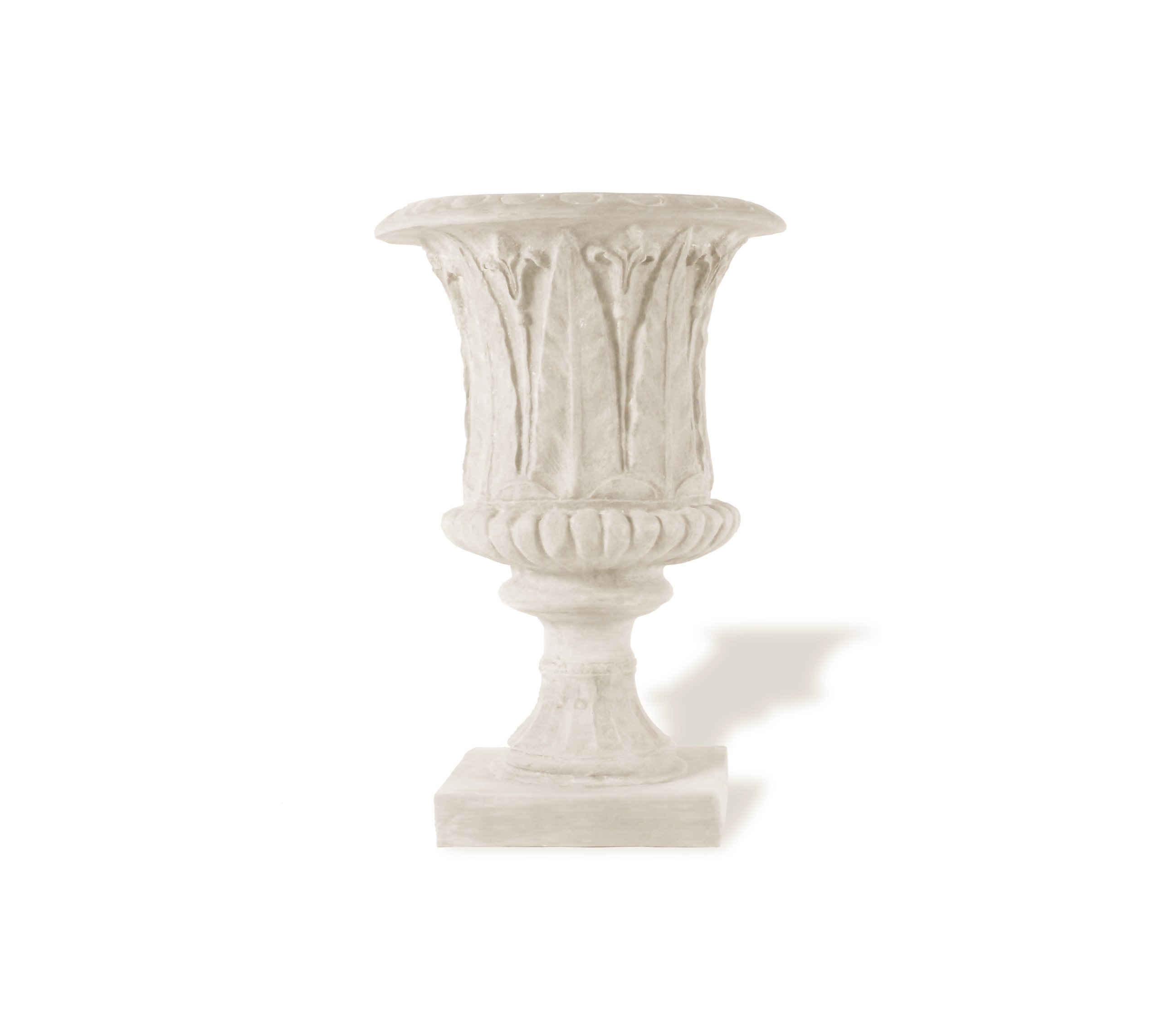Amedeo Design ResinStone 2509-51L Palm Leaf Urn, 24 by 24 by 34-Inch, Limestone