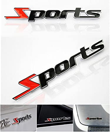1 pc first rate unique 3d sports car stickers chrome decor auto decal letter