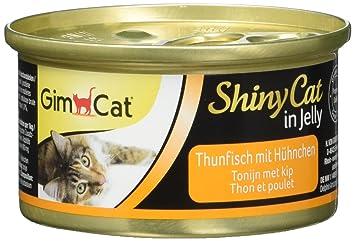 GimCat ShinyCat in Jelly de atún con pollo , Alimento en gelatina con atún y pollo para gatos adultos , 24 raciones (24 x 70 g): Amazon.es: Productos para ...