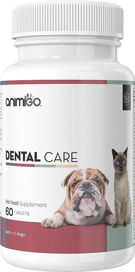Animigo Cuidado Dental - Suplemento para El Cuidado De Los Dientes En Perros Y Gatos -